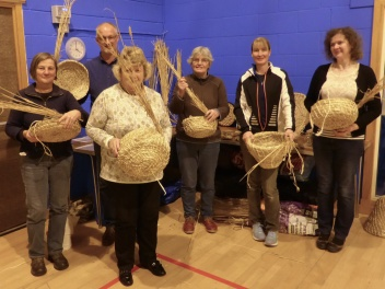 skep-making - group photo